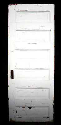 "30""x78"" Antique Vintage Interior Solid Wood Wooden Door Horizontal Stacked Panel"