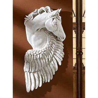 Ancient Greek Mythology Wings of Fury Pegasus Steed Horse Resin Wall Sculpture