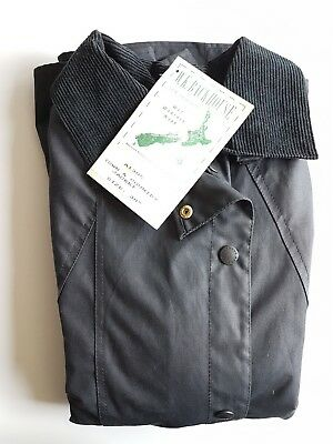 Barbour Backhouse Classic Vintage Waxed Jacket Blue Navy 40 102 New W/Tags NOS