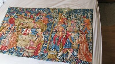 Vintage Wall Tapestry - Period scene - 122cm x 72cm