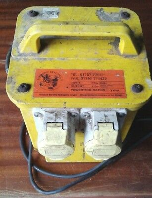 Portable Power Tool Transformer 3Kva - Twin Sockets