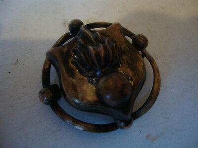 Old vintage antique sweetheart brooch trench art ww1 military flaming grenade