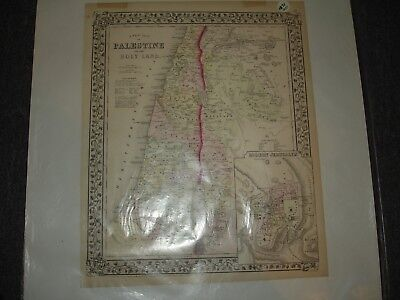 1871  Map of PALESTINE or THE HOLY LAND