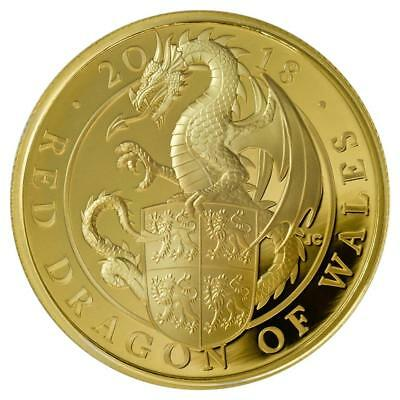 Großbritannien 100 Pfund 2018 Queen`s Beasts Dragon 1 Oz Gold PP