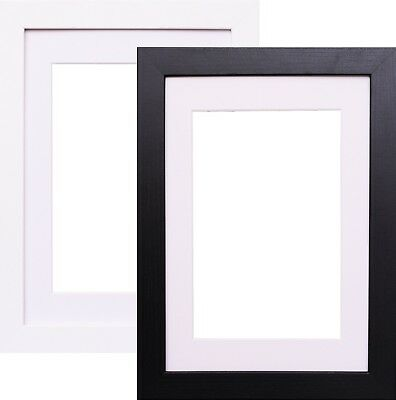 Black White Picture Frame With White Mount Photo Frames Wood Effect Frame Sizes