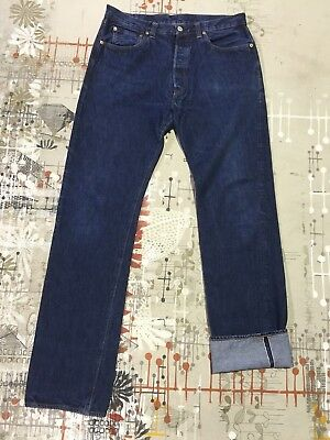 LVC 1947 Dark Indigo Levis 38 x 38 Selvedge Big E Hidden Rivets Two Tone