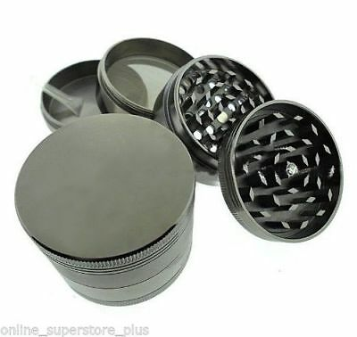 "2.5"" Magnetic Ultra Herb Tobacco Spice Grinder Aluminum w/ Scoop Carry Pouch"