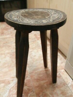 antique arts and crafts wooden stool, table