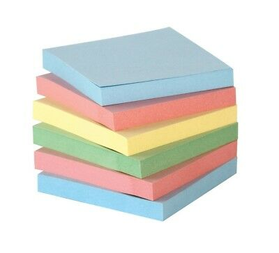 School Smart Removable Self Stick Note 3 X3 In Ass Colors 100 Sheets/Pad 12 Pack