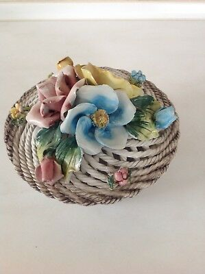 Italian Pottery Capodimonte Style Bowl with Lid.