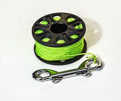 Reel, Spule, Spool, 20m mit double ender bolt snap, Tauchen,