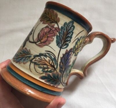 Denby Large Tankard- Signed by Glyn Colledge- Height 13.5cm
