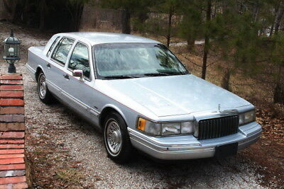 1994 Lincoln Town Car gray leather 1994 Lincoln Towncar