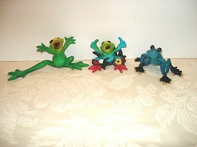 Lot of 3 Ceramic FROG Figurines KITTY'S CRITTERS, Heeeyyy! ~ My Paradise ~ EUC!