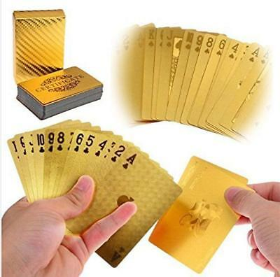 Waterproof Luxury 24K Gold Plated Foil Playing Cards Poker Deck Design Gift