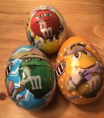 M&M's Easter Eggs New 2018 All 3 Plastic Sealed With Candy