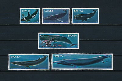 South West Africa   437-42 MNH, Whales, 1980