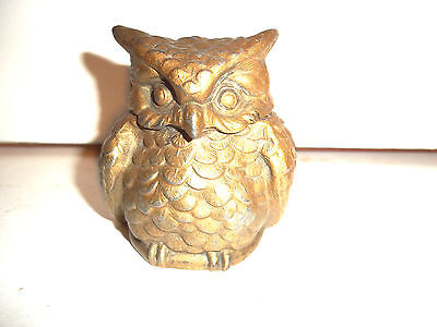 Rare Victorian Owl Inkwell - INK Holder c1890