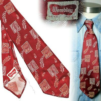 Vintage 1930s Wembley brocade art deco necktie men's swing tie