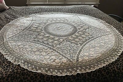 Normandy lace round cloth