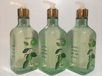 New 3 Bath Body Works Lime Ginger Zest Hand Soap Wash 10 Fl Oz Purely Clean