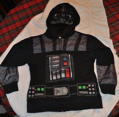 New Star Wars Full Zip Darth Vader Mask Hoodie Jacket Costume Youth Size XS-XL