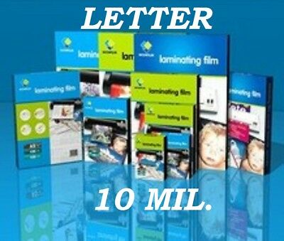 Ultra Clear 100 pack Letter Laminating Pouches Sheets (10 Mil) 9 x 11.50  CQ