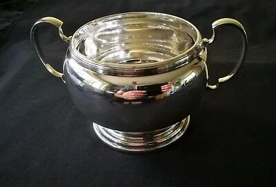 Geo V 2 Handled Sterling Silver Sugar Bowl 1926