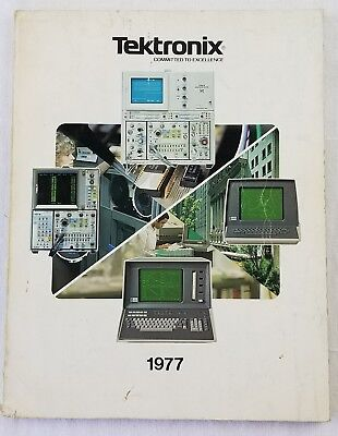 vintage TEKTRONIX instrument catalog 1977 oscilloscopes rare pictures electronic