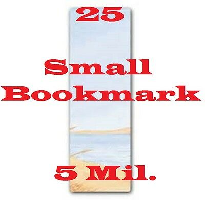 25 pk BOOKMARK SMALL Laminating Pouches Sheets 2-1/8 x 6  5 Mil  CQ