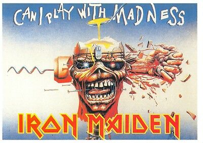 Music Postcard Iron Maiden, Can I Play with Madness by New Line F62