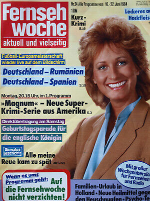 Fernsehwoche Nr. 24 von 1984,Boy George,Tom Selleck,Juliane Werding,Hans Hartz