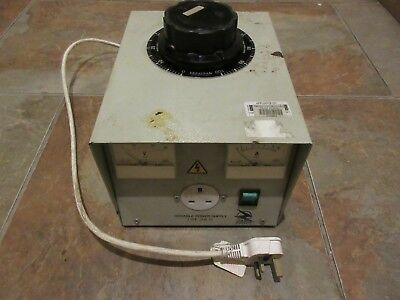 Enclosed Variable Autotransformer (Variac) for Bench Mounting 1ph 10A
