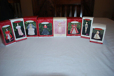 Lot of 8 Hallmark BARBIE Christmas Ornaments Collectors Series w/boxes Enchanted