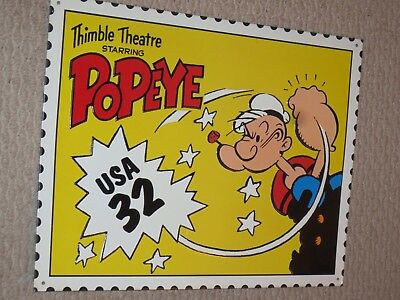 METAL SIGN Popeye Thimble Theatre  Classic Poster Home Decor Wall Art 1995