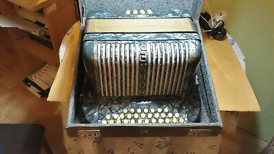 Hohner Club IIB Button Accordion with case