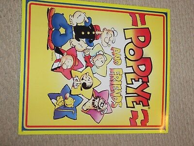 METAL SIGN Popeye and Friends  Classic Poster Home Decor Wall Art 1996
