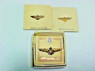 Three Sterling WW 2 US Navy Sweetheart Pins In Original Box Or Card.