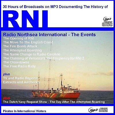 """Pirate Radio RNI """"THE MAJOR EVENTS 1970-1974""""  Now on Car Friendly MP3 Disc"""