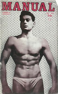 Manual Number 64 May 1965 / Gay, Vintage, Physique, Beefcake / Damaged