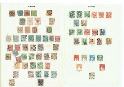 #177 Denmark Danmark from early collection hinged on leaves x26