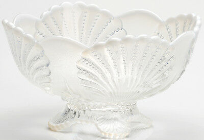 Bowl - Beaded Shell - Crystal French Opalescent Glass - Mosser USA
