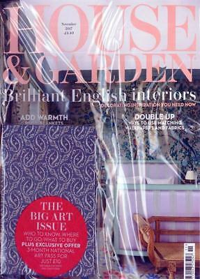 House & Garden Magazine Nov 2017  ~ The Big Art Issue With Free Notebook ~ New ~