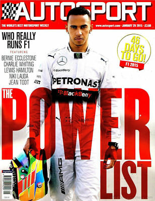 AUTOSPORT MAGAZINE JANUARY 29th 2015 ~ NEW ~ DISCOUNTS ON MULTIPLE ISSUES ~