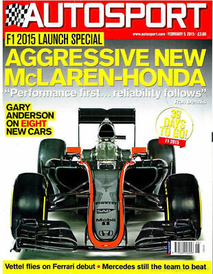 AUTOSPORT MAGAZINE FEBRUARY 5th 2015 ~ NEW ~ DISCOUNTS ON MULTIPLE ISSUES ~