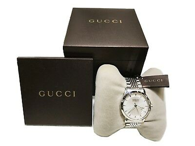 c07cd6db5b1 New Gucci G-Timeless YA126417 Automatic Steel Silver Dial Men watch with BOX