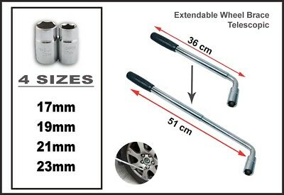 17Mm 19Mm 21Mm 23Mm Nuts   Alloy Steel Wheel  Brace Wrench Extendable Citroen