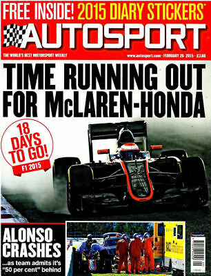 AUTOSPORT MAGAZINE FEBRUARY 26th 2015 ~ NEW ~ DISCOUNTS ON MULTIPLE ISSUES ~