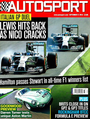 AUTOSPORT MAGAZINE SEPTEMBER 11th 2014 ~ NEW ~ DISCOUNTS ON MULTIPLE ISSUES ~