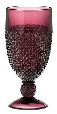 Goblet - Addison - Amethyst Glass - Mosser USA